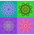 Colorful round pattern set vector image