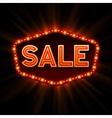 Sale retro light frame vector image
