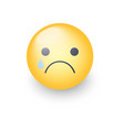 disappointed emoji face crying cartoon vector image