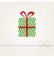 greeting card with a gift box vector image