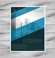 abstract blue company flyer template vector image vector image