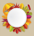autumn frame in paper art vector image
