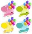banner design with colorful balloons vector image