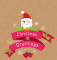 beautiful vintage christmas vintage greetings vector image vector image