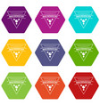 biochemistry icons set 9 vector image vector image
