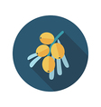 Branch of sea-buckthorn berries flat icon Berry vector image