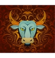 Bull as symbol for year 2021 vector image vector image