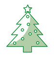 christmas tree isolated icon vector image vector image
