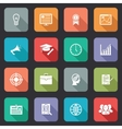 Collection of internet education icons vector image vector image