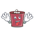 crazy hot chocolate mascot cartoon vector image vector image