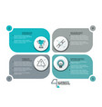 creative infographic design template vector image