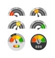 Credit score indicators set vector image vector image