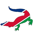 Crocodile Namibia vector image vector image