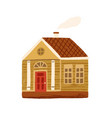 cute little country house with door windows vector image vector image