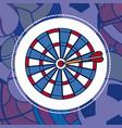 darts sport concept vector image