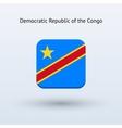 Democratic Republic of the Congo flag icon vector image vector image