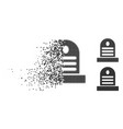 dissolving dotted halftone tombstone icon vector image