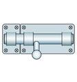 Door lock fastening vector image vector image