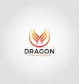 dragon fire logo template vector image