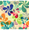 effortless floral pattern with vivid flowers eps1 vector image vector image