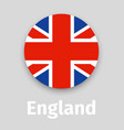 england flag round icon with shadow vector image vector image
