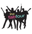Fab Four Beatles Silhouette vector image vector image