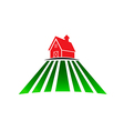 Farm house with field vector image vector image