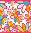 flowers beautiful seamless pattern vector image