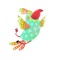 flying parrot cartoon vector image vector image