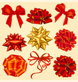 gift box ribbons vector image