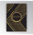 golden black page decoration art deco art nuvo vector image vector image