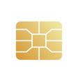 golden emv chip icon secure online banking vector image