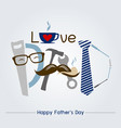 happy fathers day concept design vector image vector image