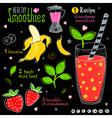 Healthy smoothie recipe set vector image