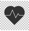 Heartbeat sign Dark gray icon on vector image vector image