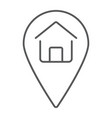 home location thin line icon real estate and home vector image vector image