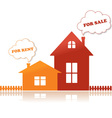 houses for sale vector image vector image