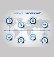 infographic design with finance icons vector image vector image