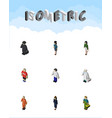 isometric person set of businesswoman pedagogue vector image vector image