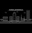 jacksonville silhouette skyline usa vector image vector image