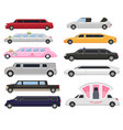 limousine limo luxury car and retro auto vector image vector image