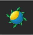 local farm logo round shape creative eco symbol vector image