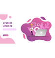 maintenance update system upgrate concept vector image
