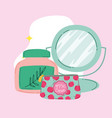 makeup cosmetics fashion beauty cosmetic bag vector image vector image