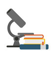 microscope and books vector image