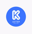 modern linear logo and sign letter k vector image vector image