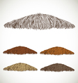 Mustache groomed in several colors set1 vector image vector image