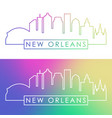 new orlean skyline colorful linear style vector image vector image