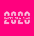 new year greeting card design 2020 10eps vector image vector image