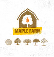 organic maple syrup producer farm creative rough vector image vector image